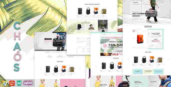 قالب زیبا فروشگاه کیف ساک وردپرس کیوس