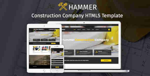 قالب سایت شرکت طراحی معماری html همر