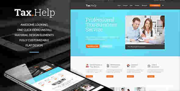 قالب سایت خدمات مشاوره همراه فروشگاه وردپرس تاکس هلپ