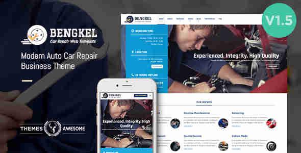 قالب سایت خدمات پس از فروش وردپرس بنگکال
