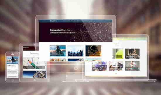 قالب سایت شخصی شرکتی جوملا پولیگونز