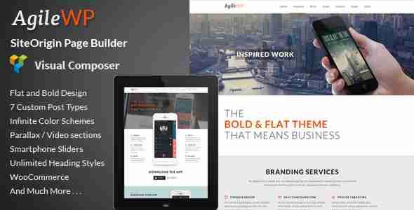 قالب مدرن سایت شرکت وردپرس اگیله