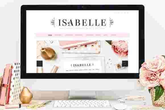 قالب سایت وبلاگ نویسی زنانه دخترانه ایزابلا وردپرس