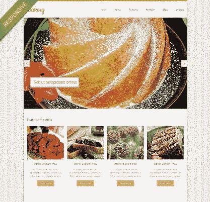 قالب سایت آشپزی همراه اسلایدر ریسپانسیو Html