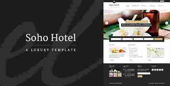 قالب حرفه ای پر فروش سایت هتل سوهو وردپرس