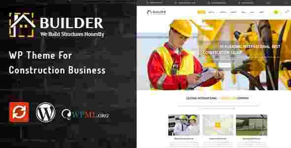 قالب سایت پیمانکاری راه سازی ساختمان بولدر وردپرس