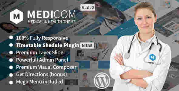 قالب سایت مطب کلینیک پزشکی مدی کام وردپرس
