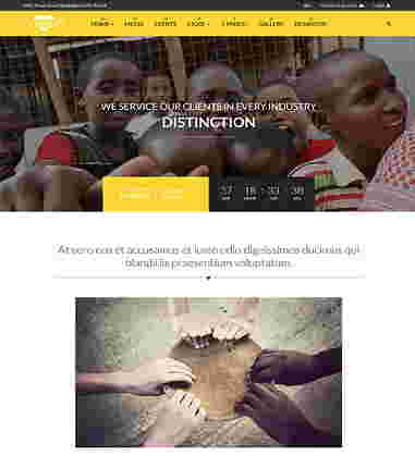 قالب سایت حمایت از کودکان همراه فروشگاه چیرتی جوملا