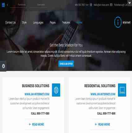 قالب سایت شرکتی تجاری اینترنت RTL جوملا 3