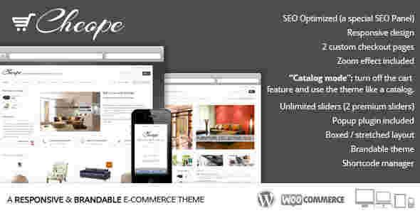 قالب سایت برند محصولات مبلمان صندلی ووکامرسی وردپرس