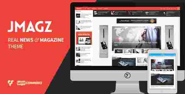 قالب مجله وبلاگ نویسی همراه ووکامرسی جی مگز وردپرس