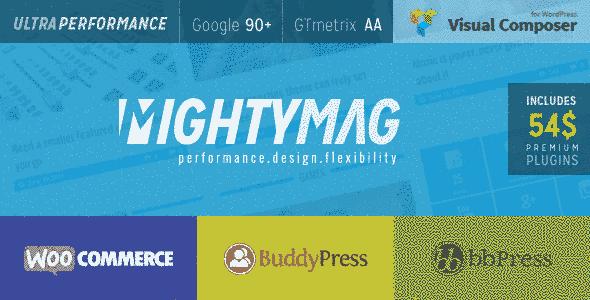 قالب حرفه ای مجله خبری rtl مایتی مگ همراه فروشگاه وردپرس