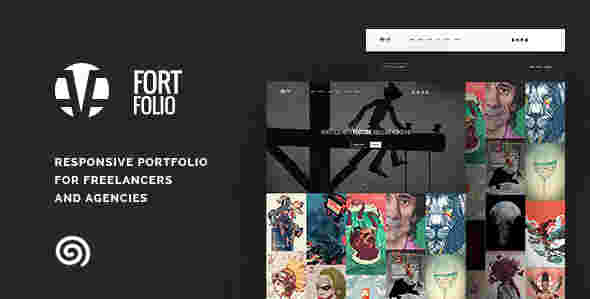 قالب شرکتی تجاری آژانس کاری فورت فولیو html