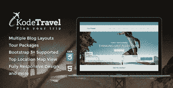 قالب سایت آژانس شرکت مسافرتی توریسم ریسپانسیو html