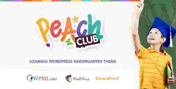 قالب حرفه ای سایت مدرسه ابتدایی مهد کودک کلوب وردپرس
