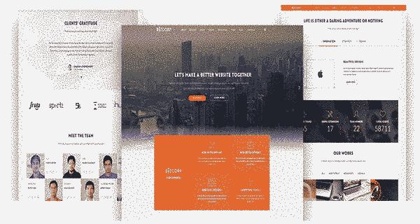 قالب تک صفحه ای شرکتی همراه وبلاگ نویسی جوملا 2.5 تا 3