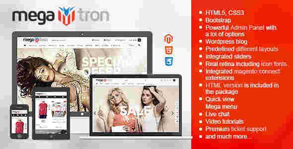 قالب حرفه ای فروشگاهی RTL مگاترون مگناتو