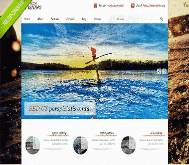 قالب تجاری ماهیگیری لوازم ماهیگیری همراه اسلایدر html