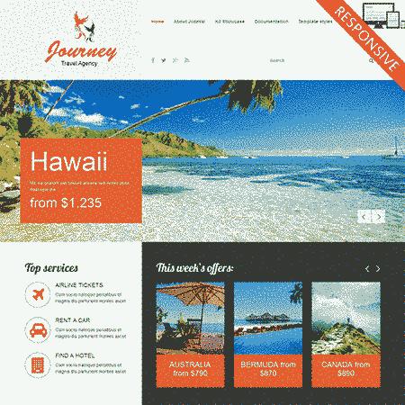 قالب شرکت خدمات مسافرتی جهانگردی ریسپانسیو جوملا 2.5 تا 3