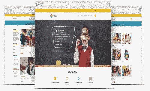 قالب سایت مدرسه مهدکودک ریسپانسیو جوملا