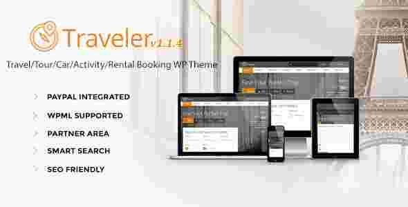 قالب حرفه ای سایت آژانس مسافرتی تراولر وردپرس