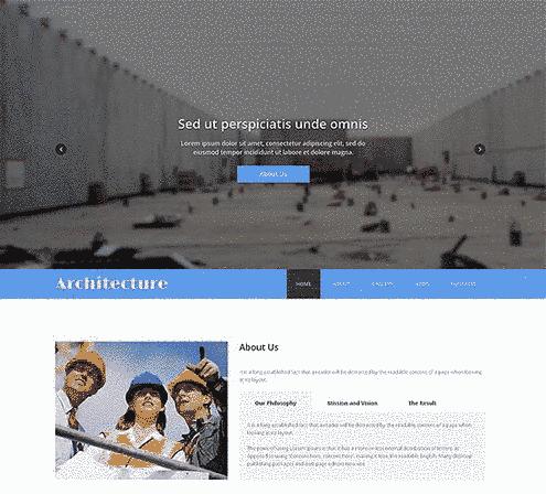 قالب تک صفحه ای پیمانکاری ساختمان رریسپانسیو html