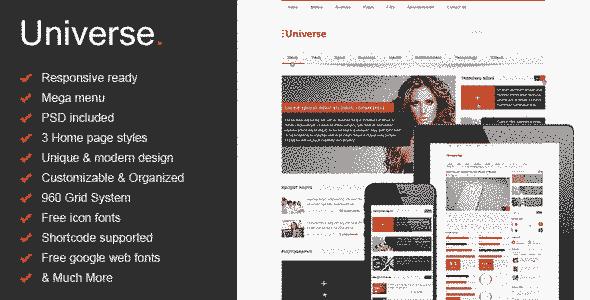 قالب مجله خبری دانشگاه html