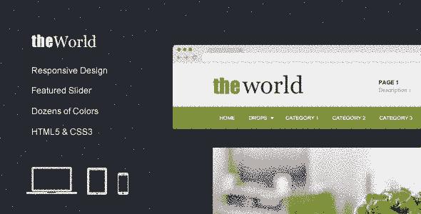 قالب وبلاگی مجله ای جهان ریسپانسیو همراه اسلایدر html