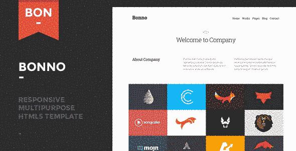 قالب سایت طراحی لوگو برند بونو html