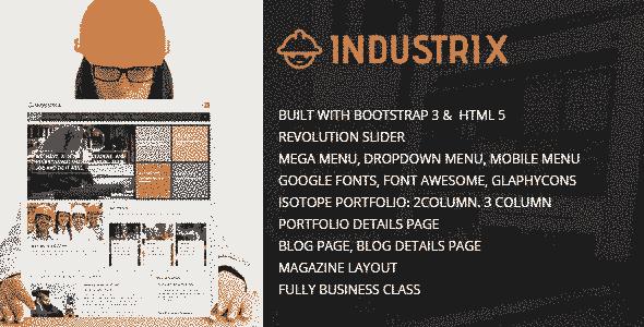 قالب حرفه ای شرکت صنعتی وبلاگ نویسی html