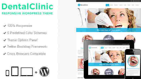 قالب سایت دندان پزشکی دنتال کلینیک وردپرس