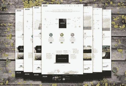قالب طراحی سایت ریسپانسیو زیکر html
