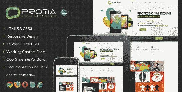 قالب شرکتی تجاری پروما ریسپانسیو دروپال