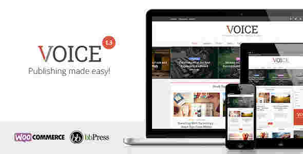 قالب مجله وبلاگ نویسی ویس وردپرس bbPress WooCommerce
