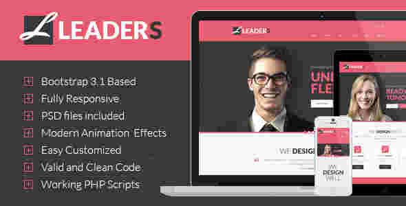قالب مولتی سایت شرکتی لیدرز وردپرس