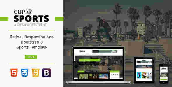 قالب سایت مجله ورزشی اسپورت کاپ html