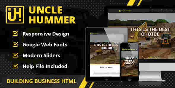 قالب تک صفحه ای سایت ماشین آلات راهسازی html