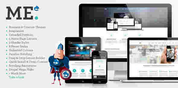 قالب سایت مولتی شرکتی می پارالاکس RTL دروپال