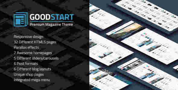 قالب مجله خبری وبلاگ نویسی گود استارت html