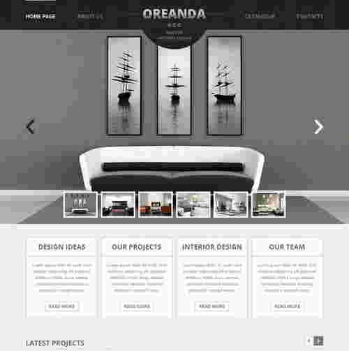 قالب وبلاگ نویسی طراحی معماری داخلی اوریندا HTML