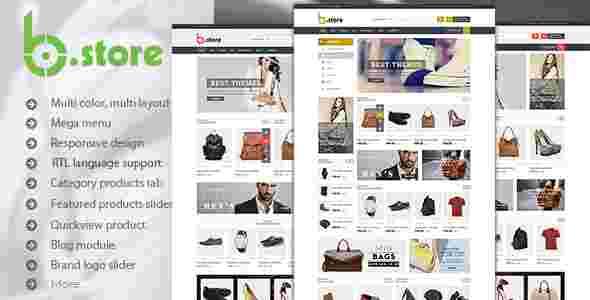 قالب حرفه ای سایت فروشگاه بی استور RTL پرستا شاپ
