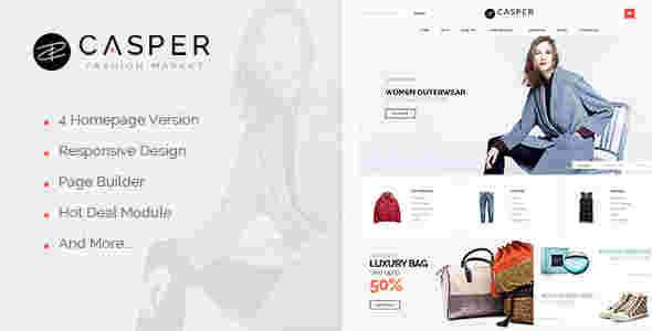 قالب سایت فروشگاهی لباس وس کسپر RTL مگناتو