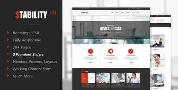 قالب حرفه ای شرکتی تجاری ماندگار html