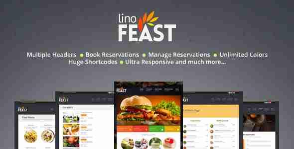 قالب سایت قنادی رستوران لینو فیست وردپرس
