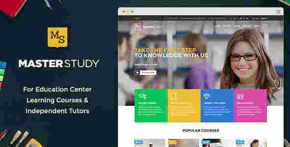 قالب حرفه ای سایت آموزشگاه مستر استادی وردپرس