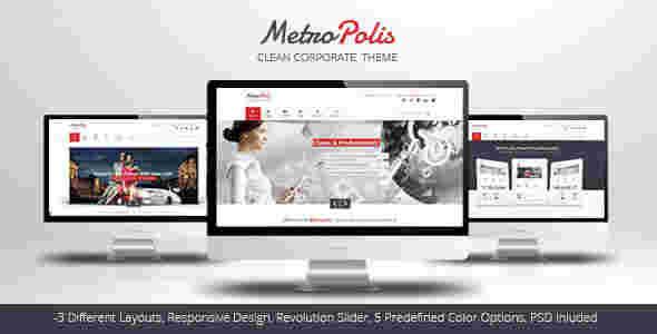 قالب مولتی شرکتی وبلاگی متروپلیس html
