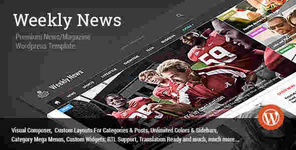 قالب سایت خبری ویکلی RTL وردپرس