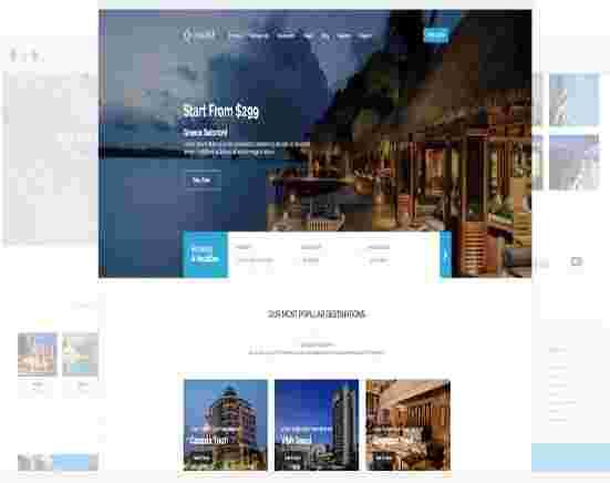 قالب تجاری شرکتی آژانس مسافرتی تراول کیت جوملا 3