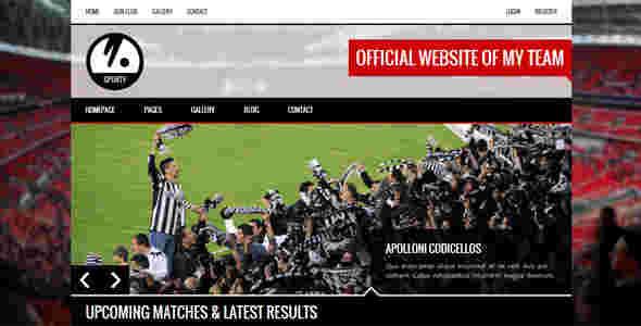 قالب سایت وبلاگ نویسی ورزشی html
