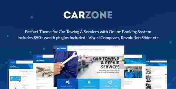 قالب سایت شرکت خدمات پس از فروش خودرو کار زون وردپرس